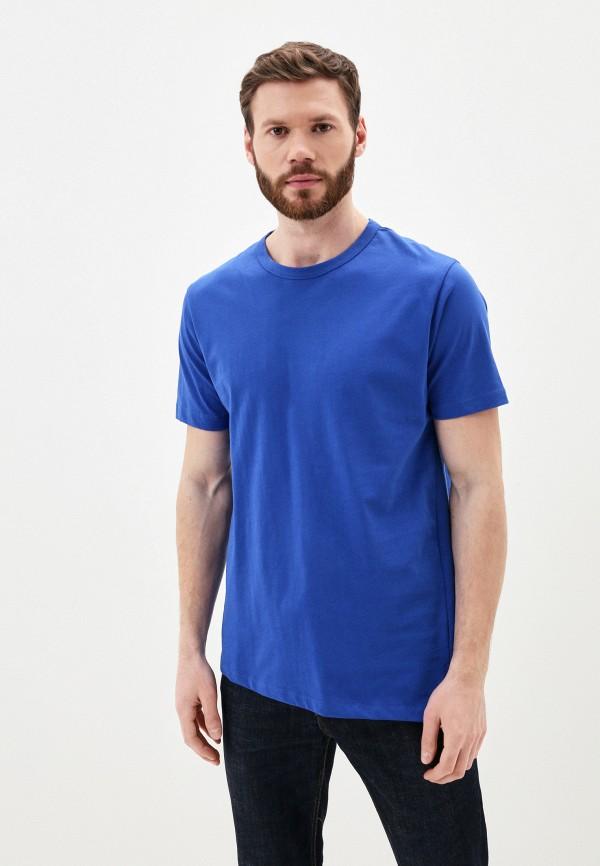 мужская футболка с коротким рукавом young & rich, синяя