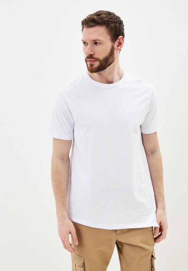 мужская футболка с коротким рукавом young & rich, белая