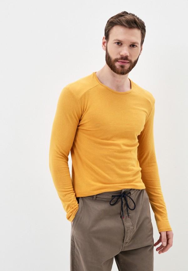 мужской лонгслив young & rich, желтый