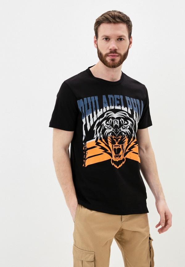 мужская футболка с коротким рукавом young & rich, черная