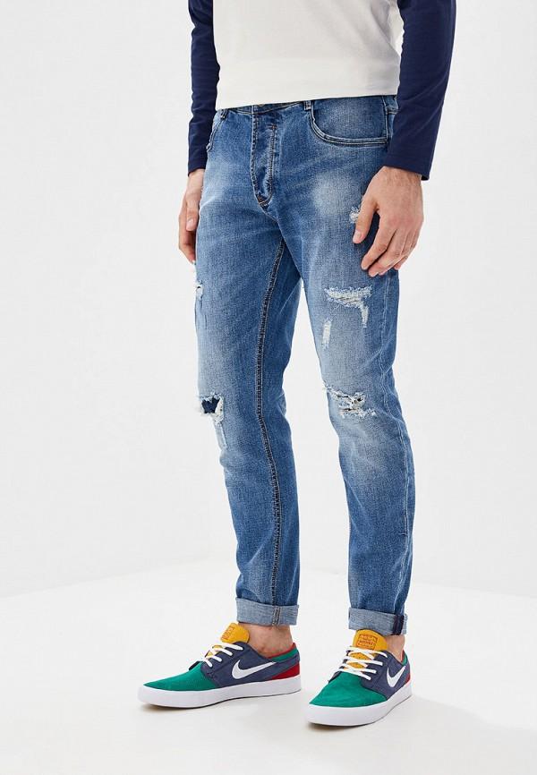 мужские зауженные джинсы y.two, синие