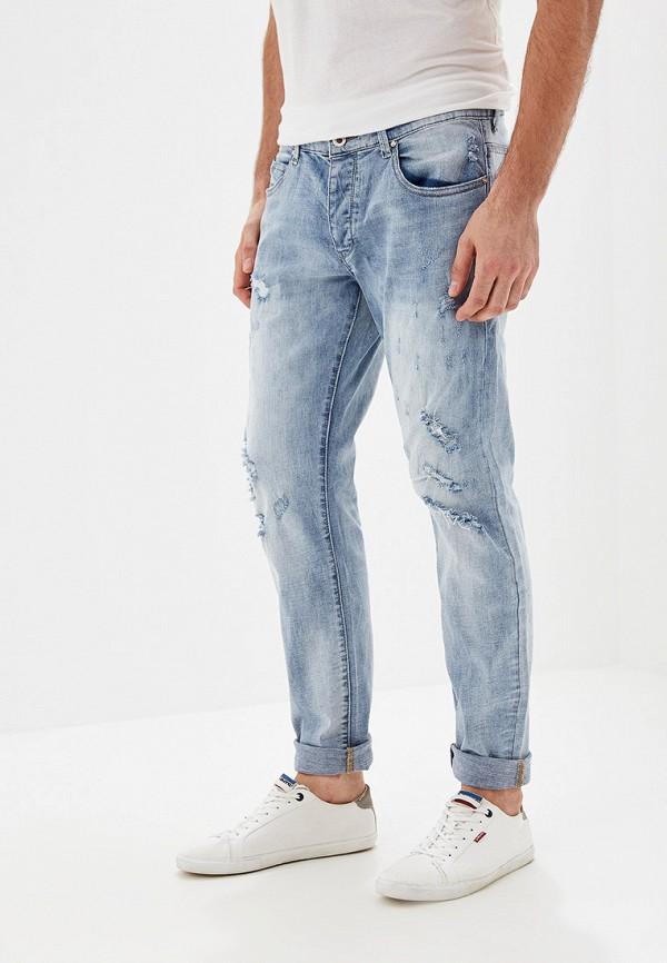 мужские прямые джинсы y.two, голубые