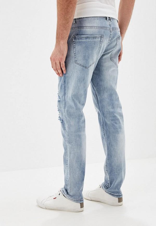 Фото 3 - мужские джинсы Y.Two голубого цвета