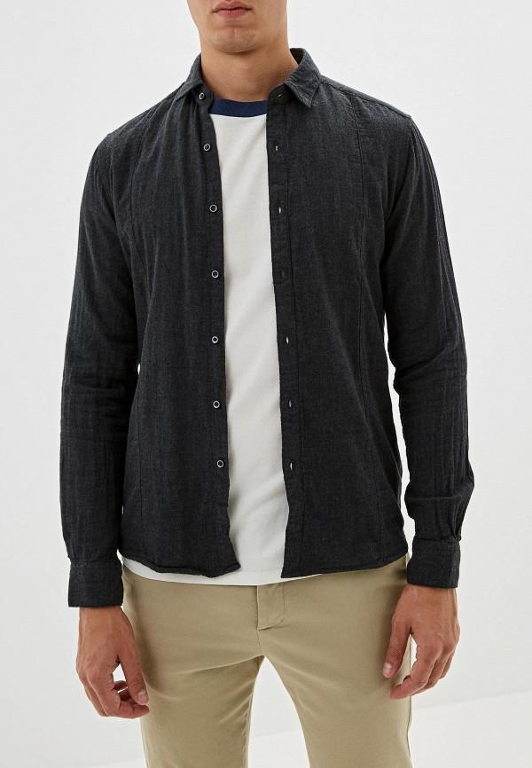 мужская рубашка с длинным рукавом y.two, серая