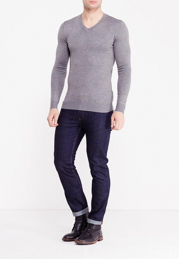 Фото 9 - мужской пуловер Y.Two серого цвета