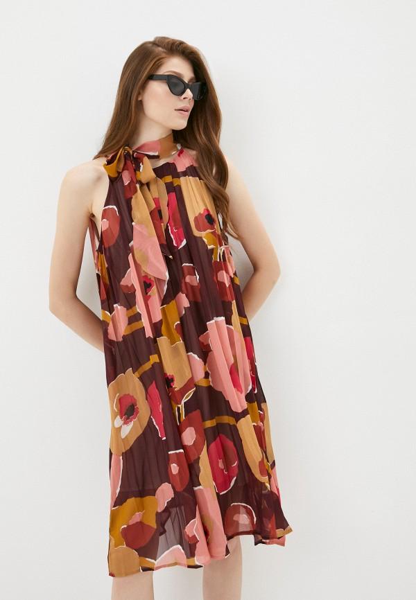 женское повседневные платье y.two, бордовое