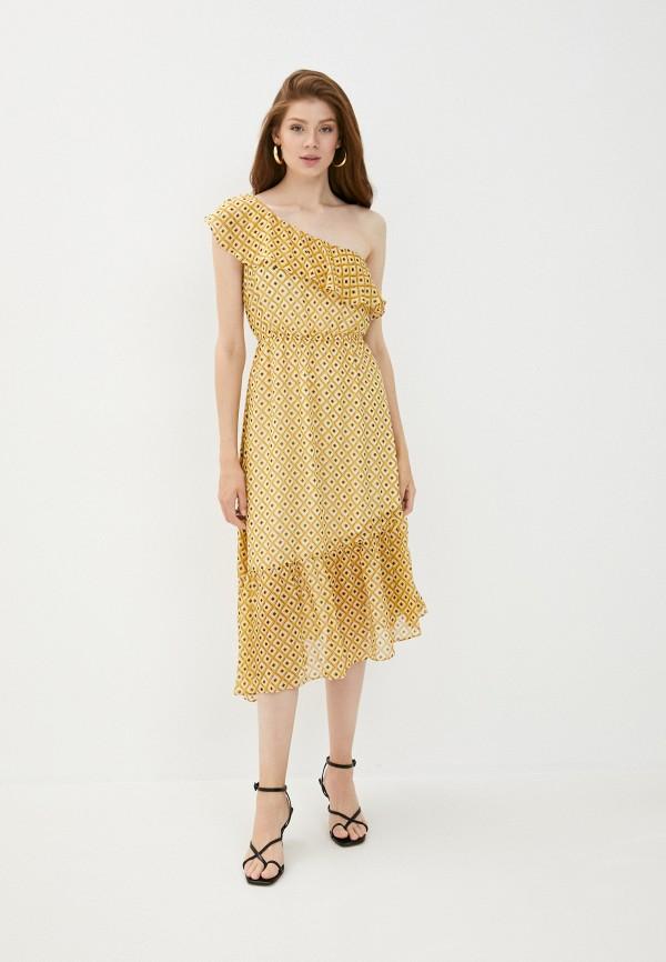 женское повседневные платье y.two, желтое