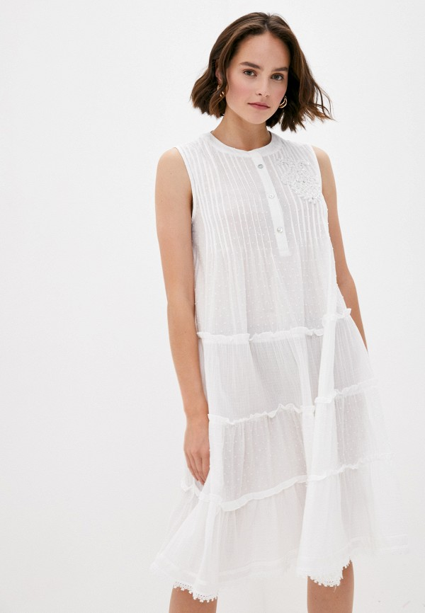 женское повседневные платье y.two, белое