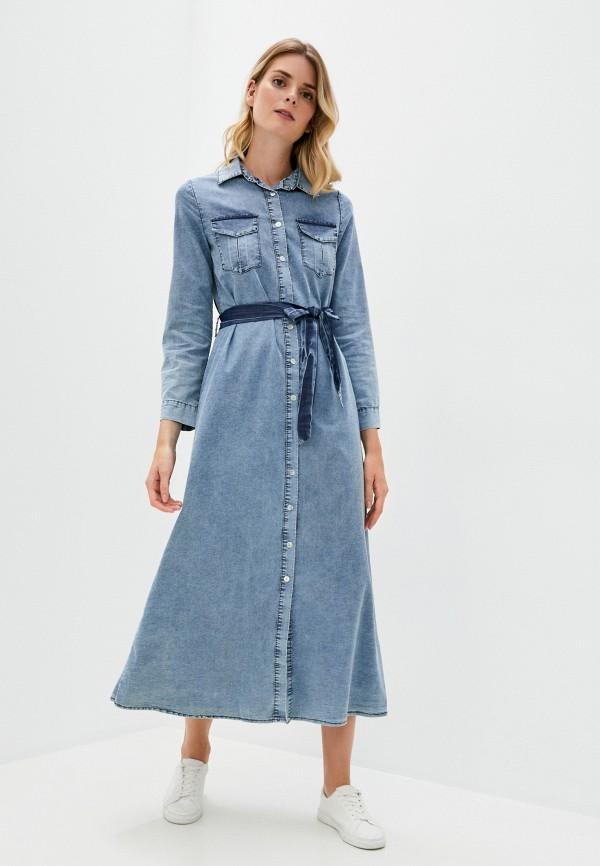 женское платье y.two, синее