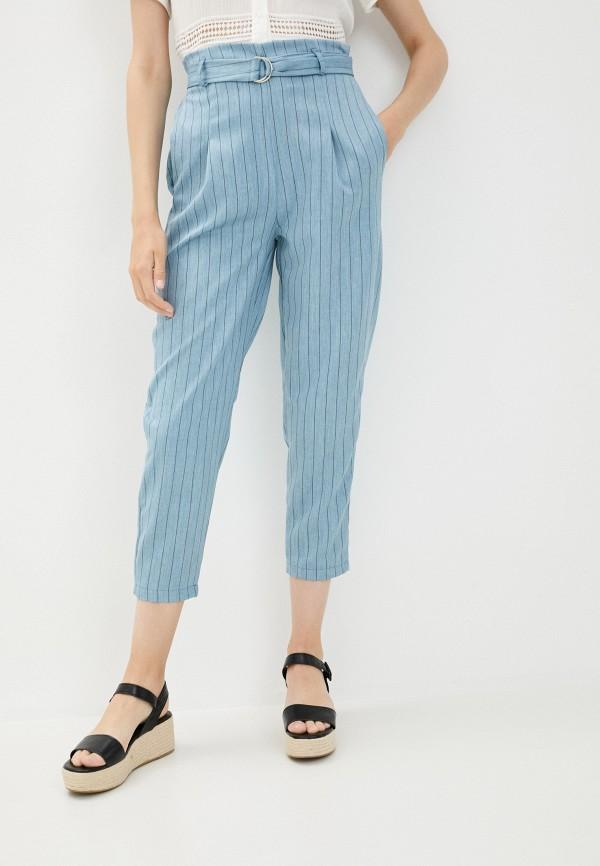 женские повседневные брюки y.two, голубые
