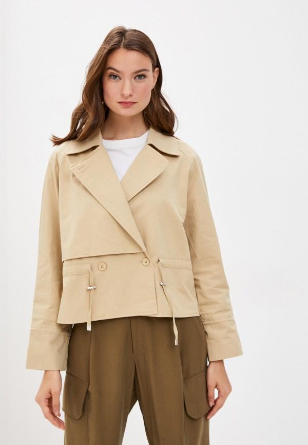 женская куртка y.two, бежевая