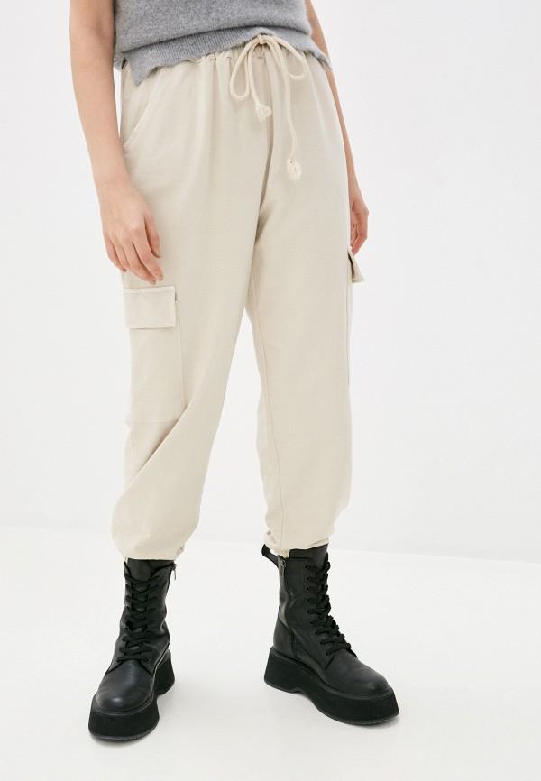 женские спортивные брюки y.two, бежевые