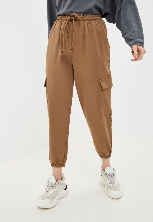 женские спортивные брюки y.two, коричневые