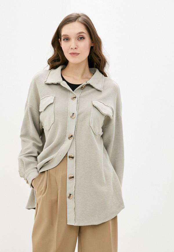женская рубашка с длинным рукавом y.two, бежевая