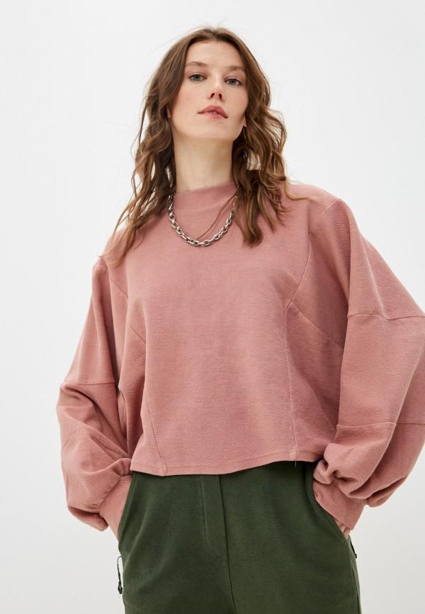 женский свитшот y.two, розовый