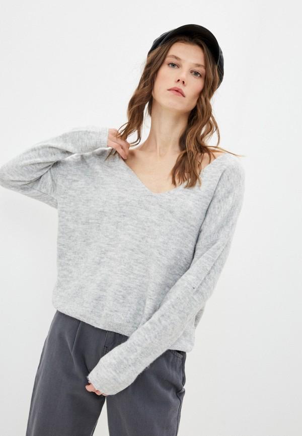 женский пуловер y.two, серый