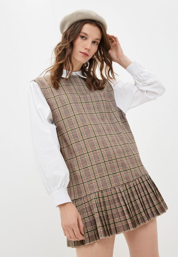 женское повседневные платье y.two, коричневое