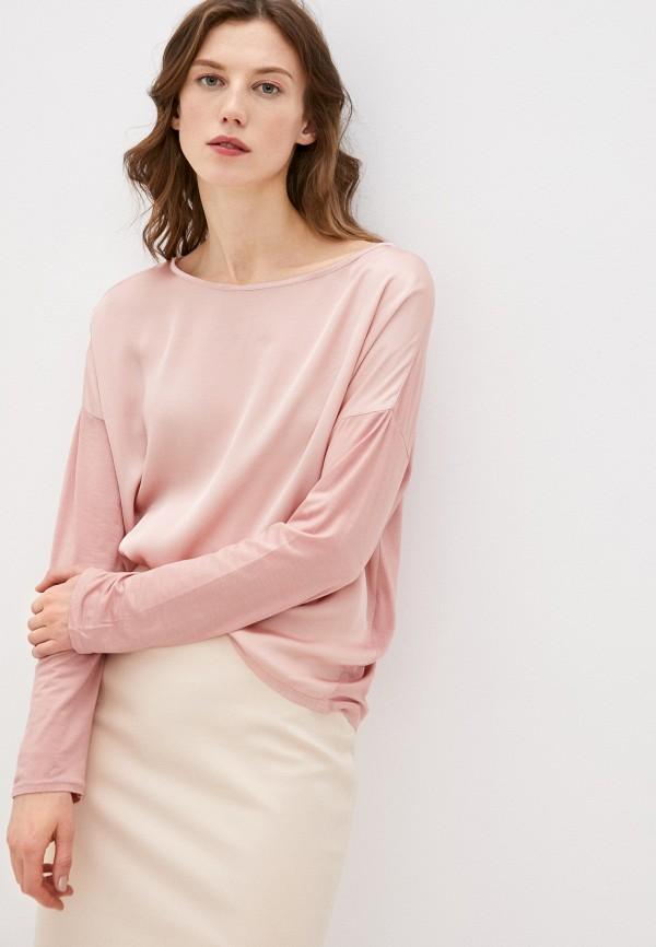 женский лонгслив y.two, розовый