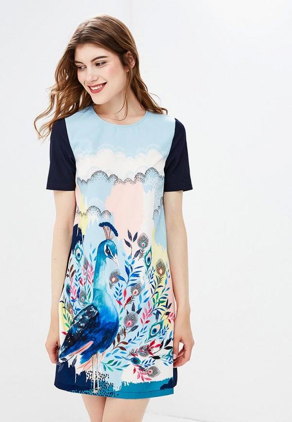 Платье Yumi Yumi YU001EWCEIG4 комфортное платье с поясом yumi платья и сарафаны мини короткие