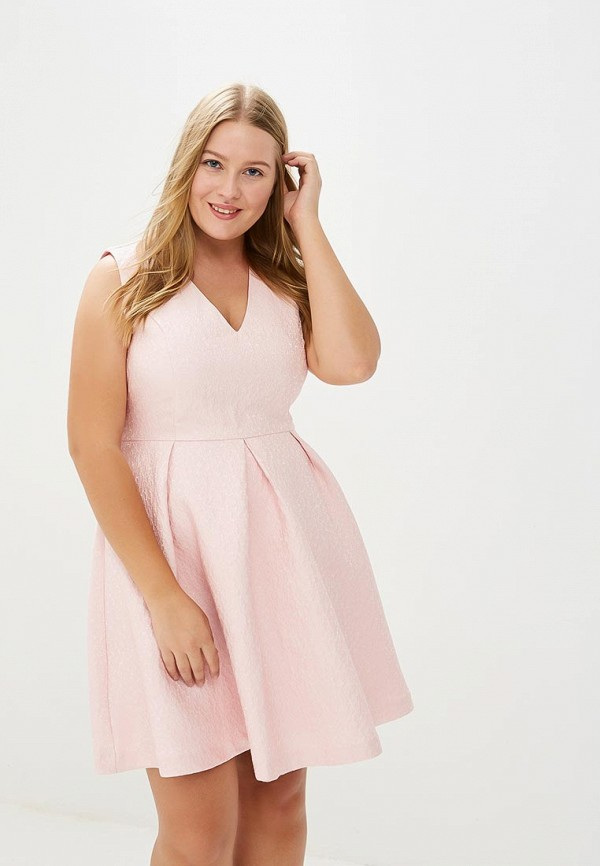 женское вечерние платье yumi, розовое