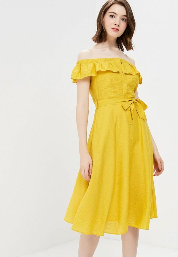 Платье Yumi Yumi YU001EWCEIK2 комфортное платье с поясом yumi платья и сарафаны мини короткие