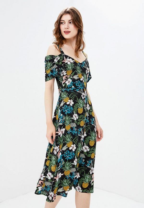 Платье Yumi Yumi YU001EWCEIL0 комфортное платье с поясом yumi платья и сарафаны мини короткие