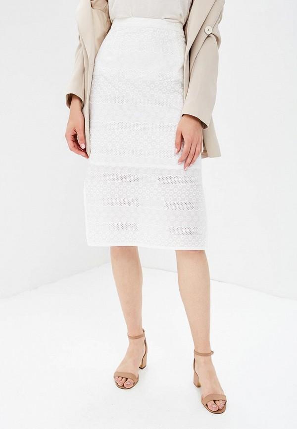 женская прямые юбка yumi, белая