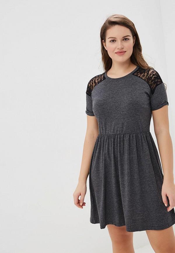 женское платье yumi, серое