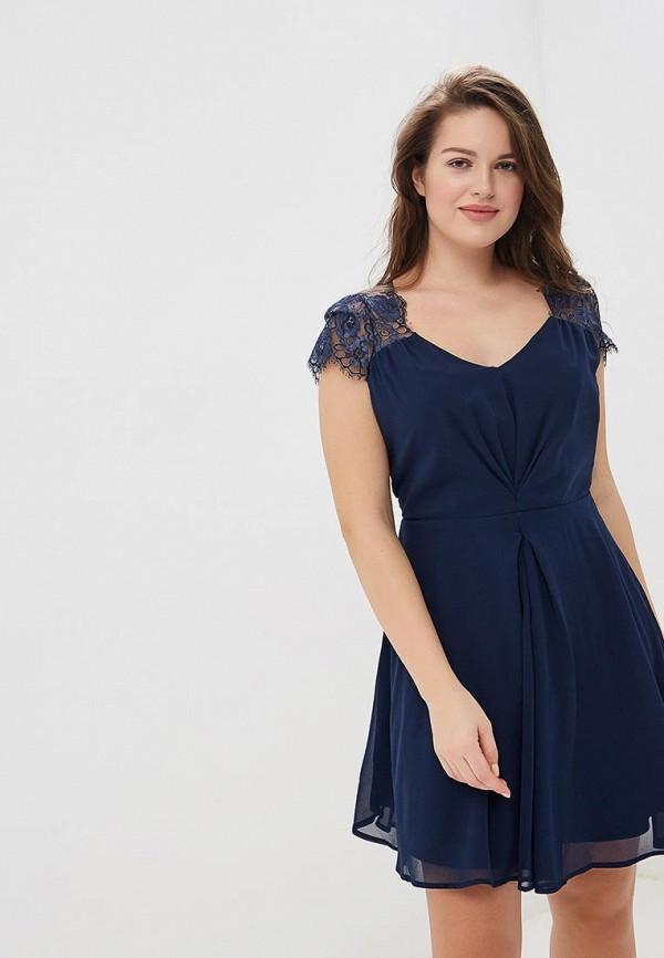 женское вечерние платье yumi, синее