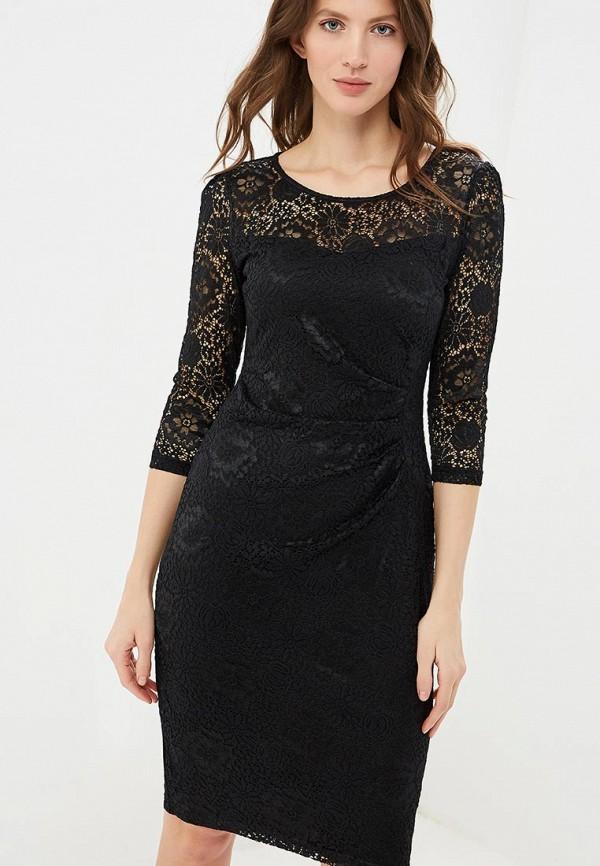 женское платье-футляр yumi, черное