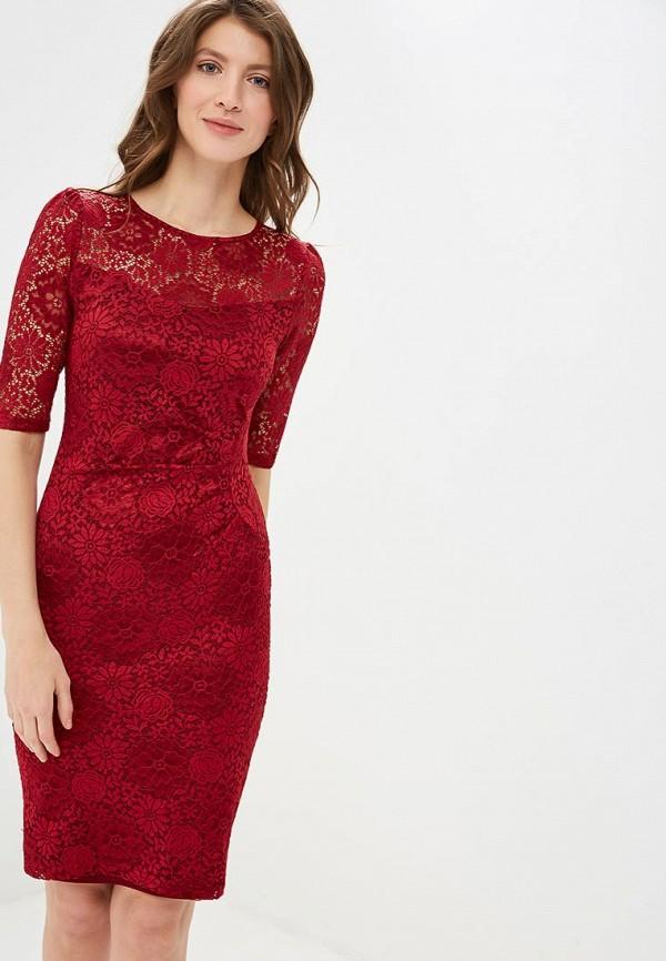 женское платье-футляр yumi, красное