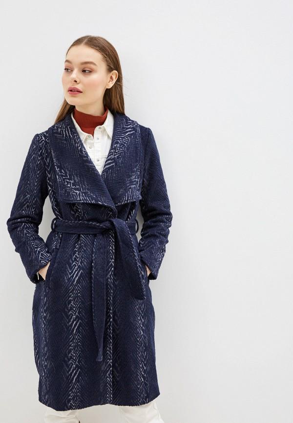 женское пальто yumi, синее