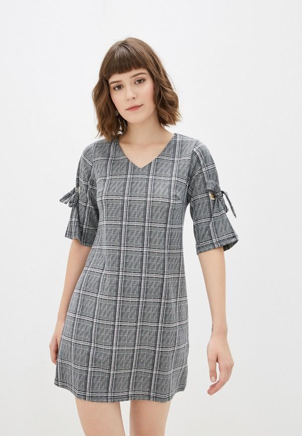 женское повседневные платье yumi, серое