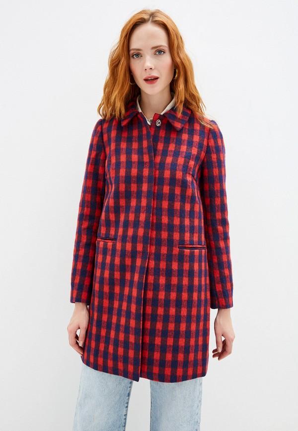 женское пальто yumi, красное
