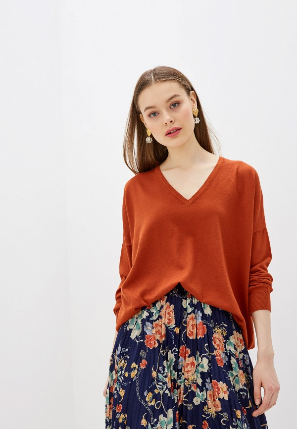 женский пуловер yumi, коричневый