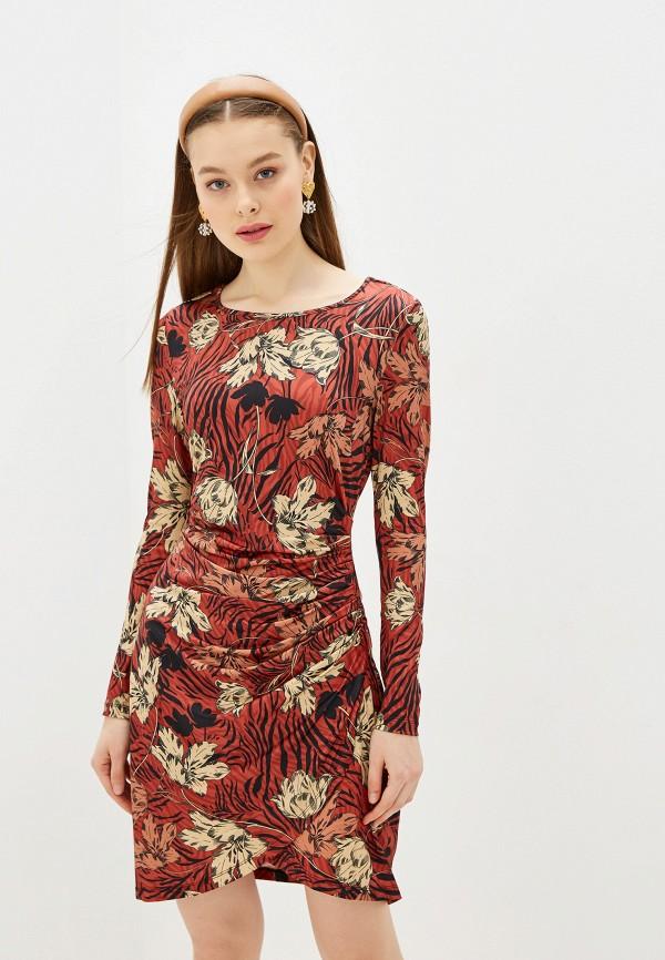 женское повседневные платье yumi, коричневое