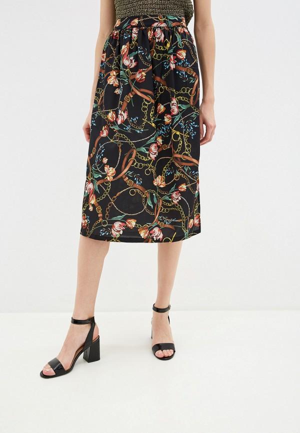женская прямые юбка yumi, черная