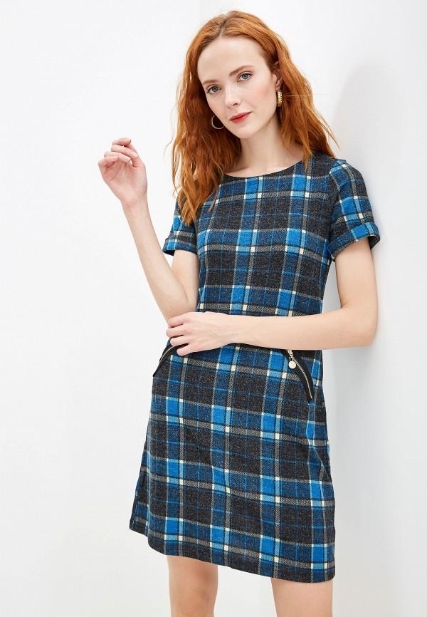 женское повседневные платье yumi, синее