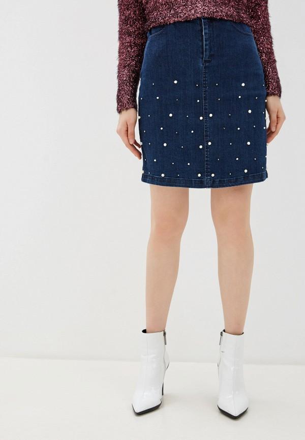 женская джинсовые юбка yumi, синяя