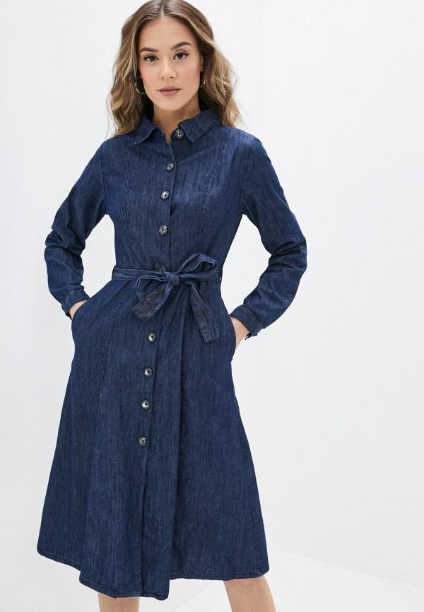 женское джинсовые платье yumi, синее