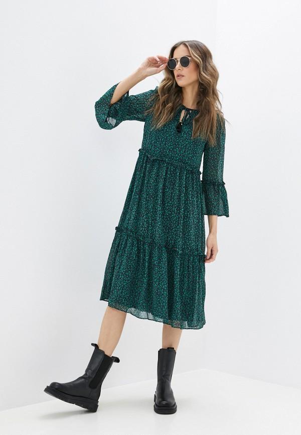 женское повседневные платье yumi, зеленое