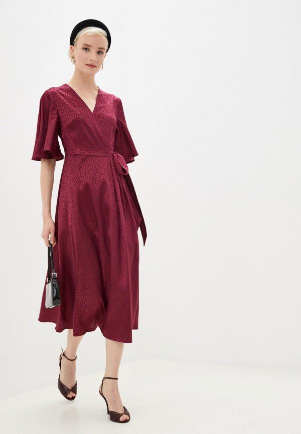 женское повседневные платье yumi, бордовое