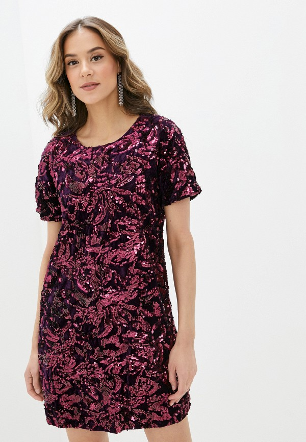 женское вечерние платье yumi, фиолетовое