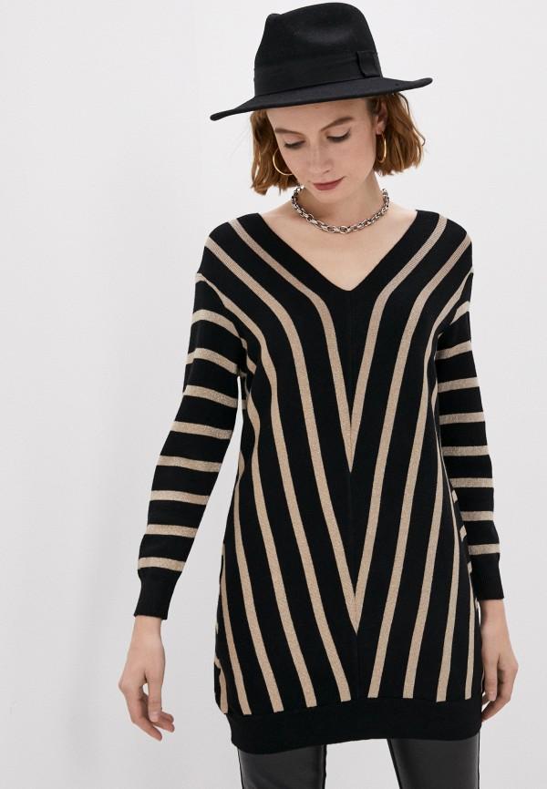 женский пуловер yumi, черный