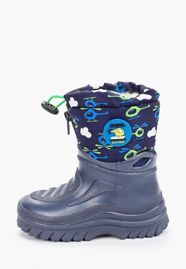резиновые сапоги юничел для мальчика, синие