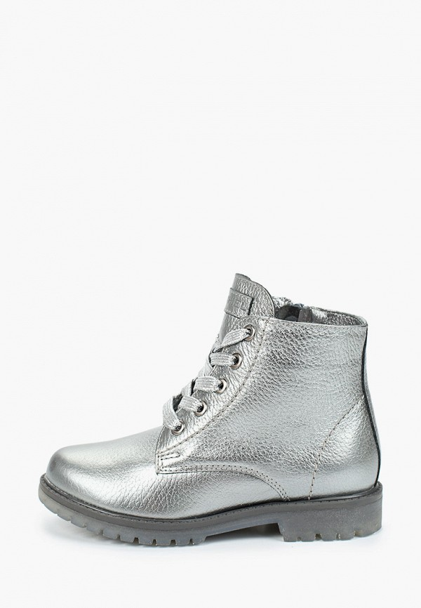ботинки юничел для девочки, серебряные