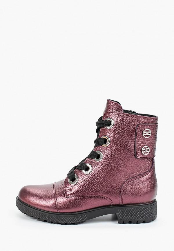 ботинки юничел для девочки, бордовые