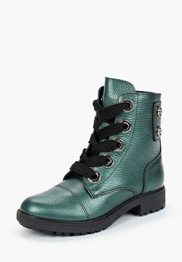 ботинки юничел для девочки, зеленые
