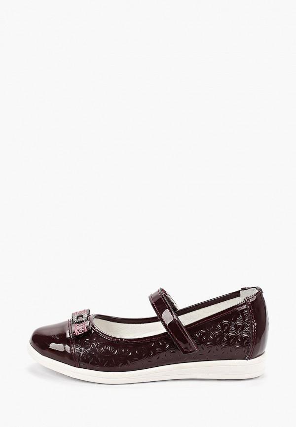 туфли юничел для девочки, бордовые