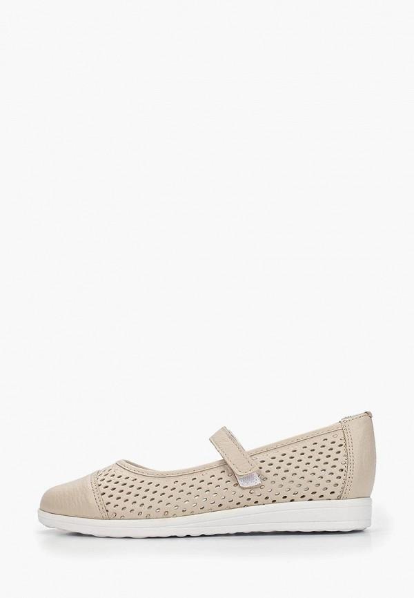 туфли юничел для девочки, бежевые